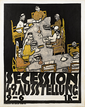 Round Table. Poster for the 49th Vienna Secession Exhibition, 1918