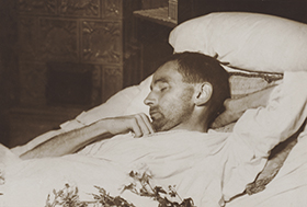 Egon Schiele on his deathbed, 1918